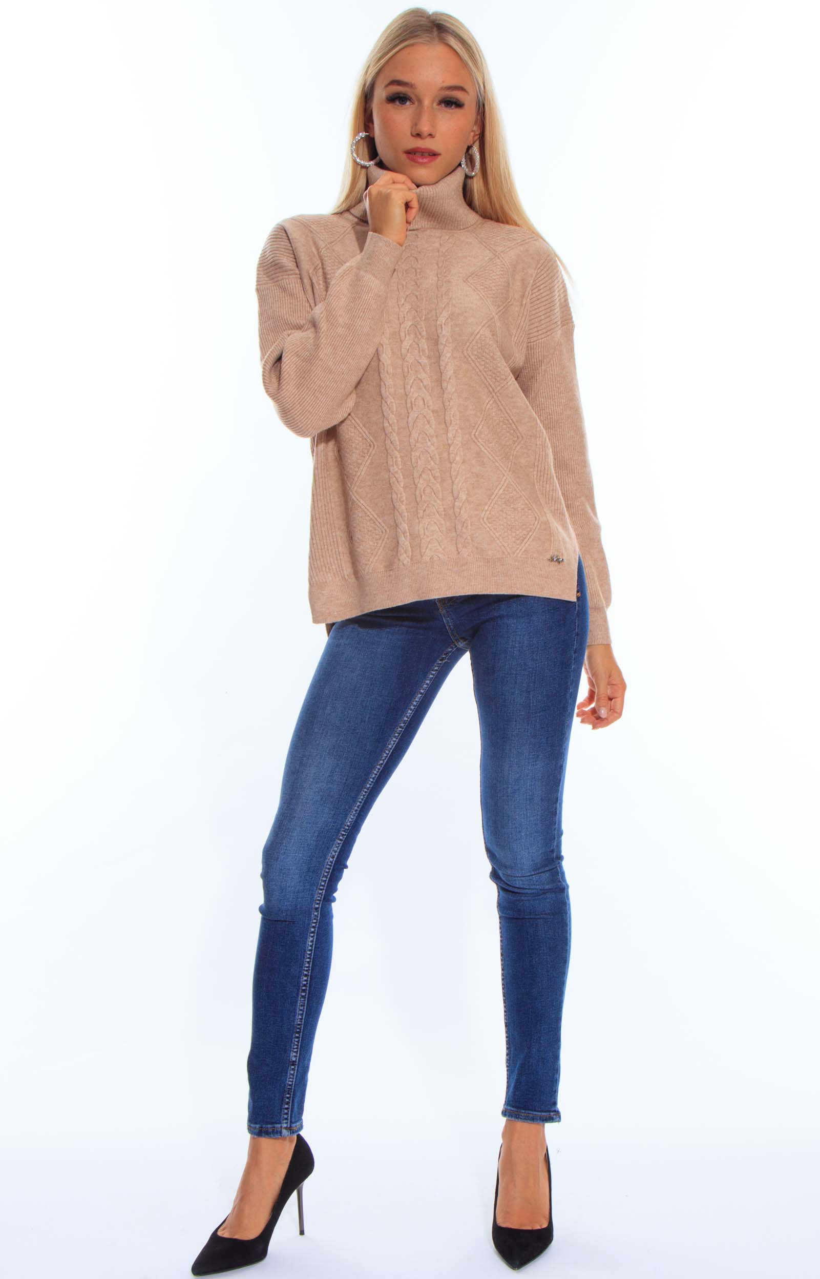 Gold pulóver