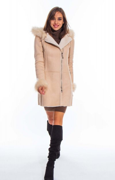 Alaska shearling coat