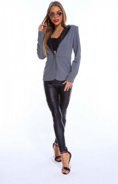 Alissa checkered blazer