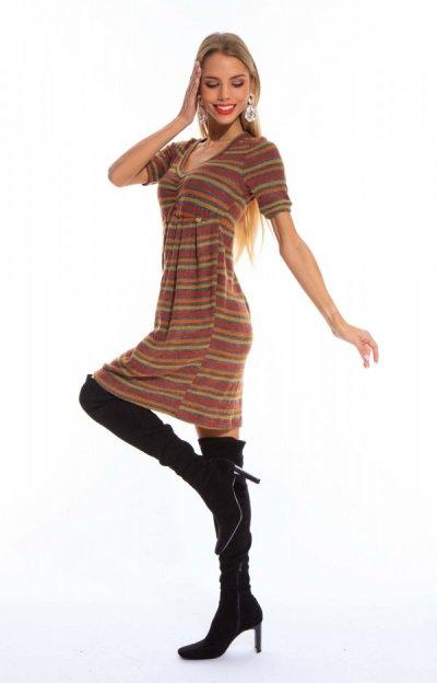 Brunela ruha csíkos