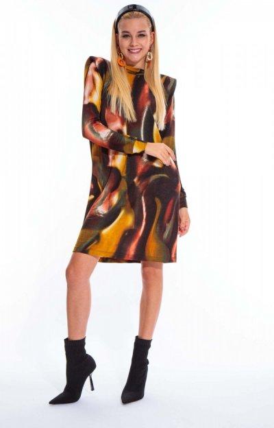 Star mintás ruha