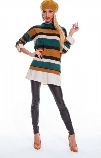 Mimóza pulóver csíkos
