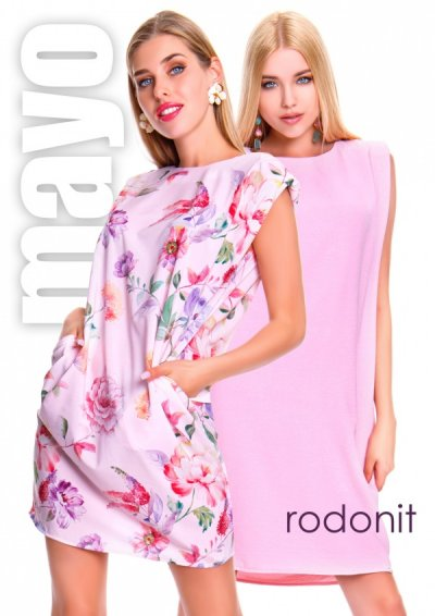 Rodonit ruha virágos